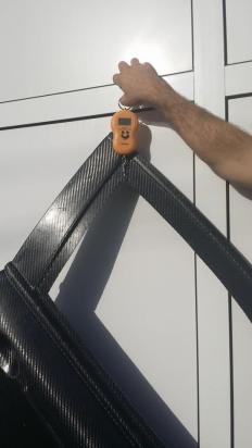 Carbon door weight