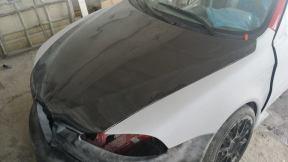 Carbon hood installed