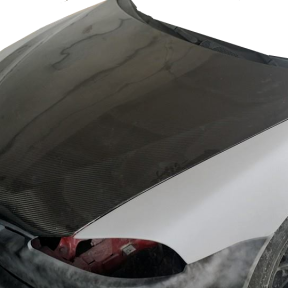 Carbon hood installed_transpar