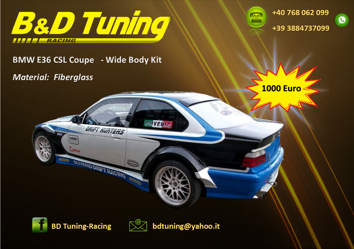 BMW E36 CSL coupe Body kit | BD Tuning-Racing