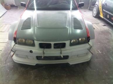 front bumper installed