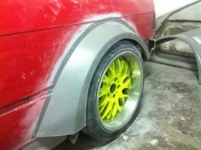 rear fender installed