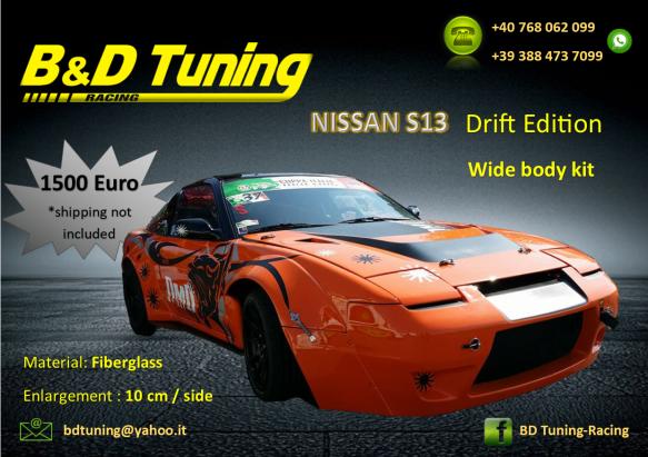 Nissan s13 drift edition body kit